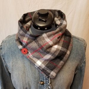Flannel Scarf with Hidden Pocket